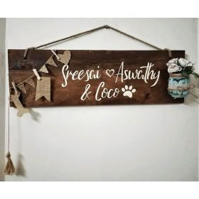 RNR1018 Personalized Wooden Name Board
