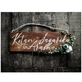 RNR1012 Personalized Wooden Name Board
